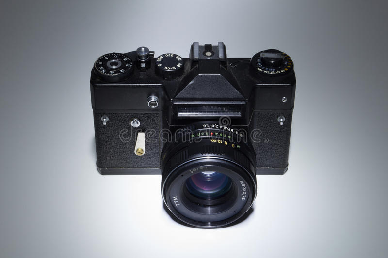 Old photo camera isolated stock images