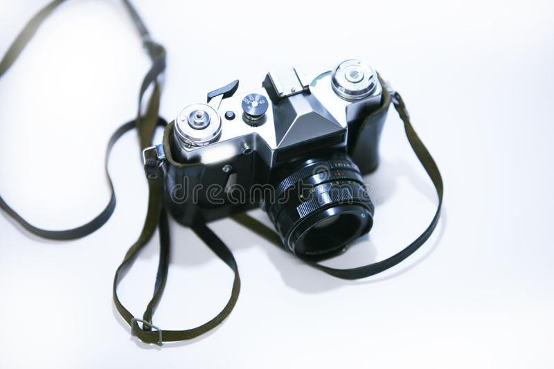 Download Old photo camera with lens stock photo. Image of material - 11810226