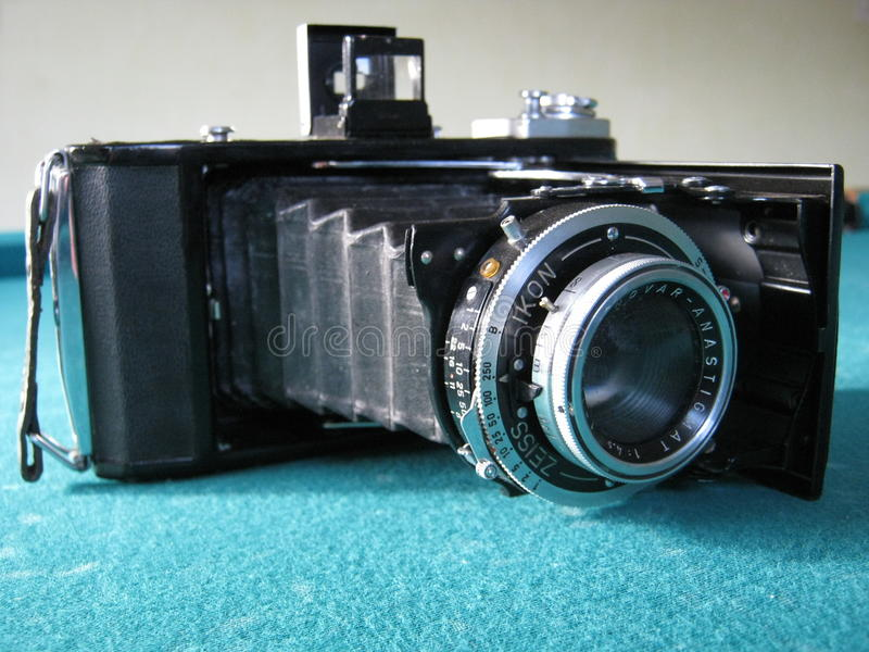 An old photo camera royalty free stock photography