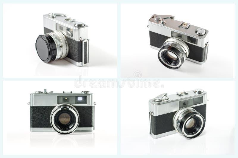 Old photo camera set isolated on white background. royalty free stock image