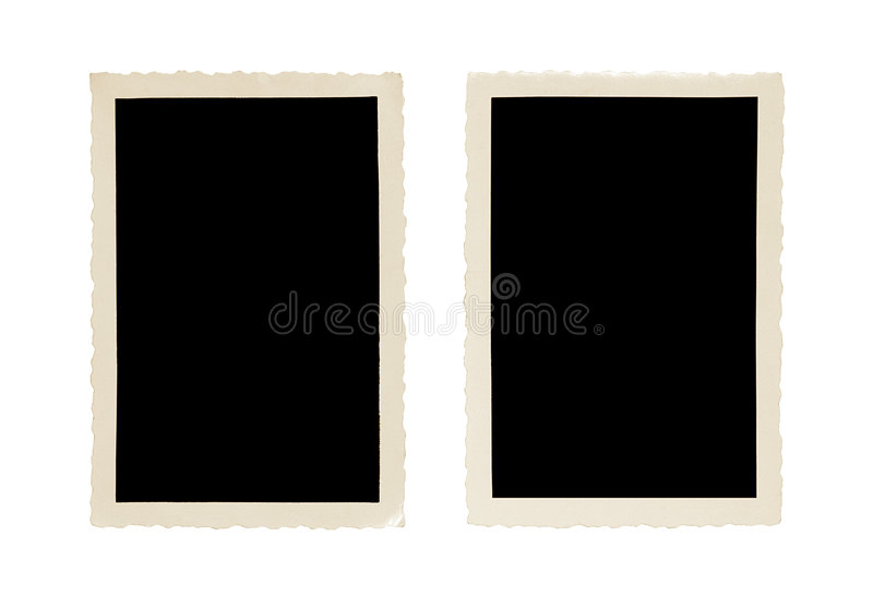 Old photo frame royalty free stock photography