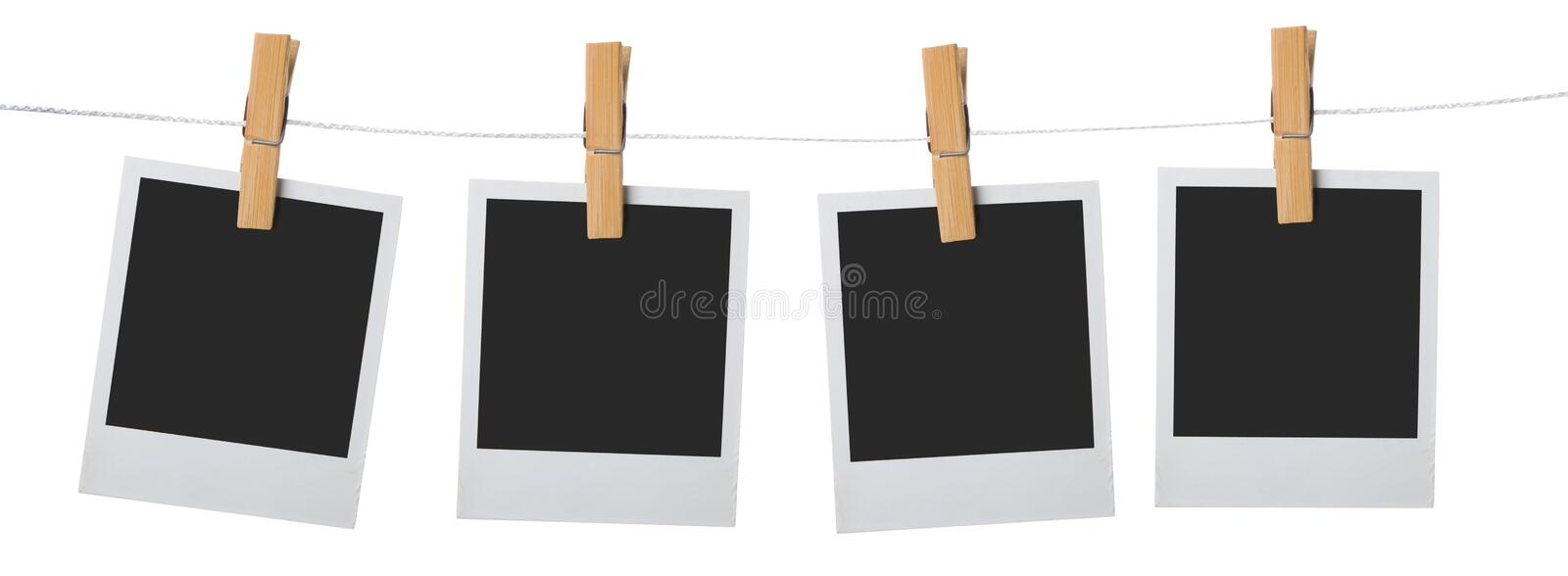 Download Old Photo Frame Palaroid Attach To Rope Stock Image - Image: 16510433