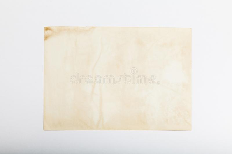 Old photo frame picture card, antique postcard background royalty free stock photos