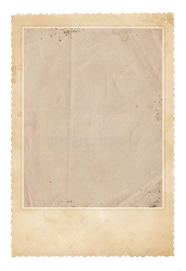 Download Old Photo Frame. Vintage Paper. Retro Card Stock Photo - Image of border, canvas: 99588026