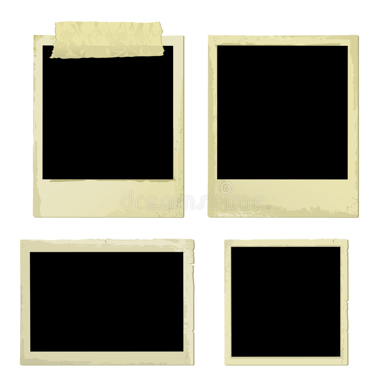 Download Old Photo Frames (vector) stock vector. Image of border - 3325540