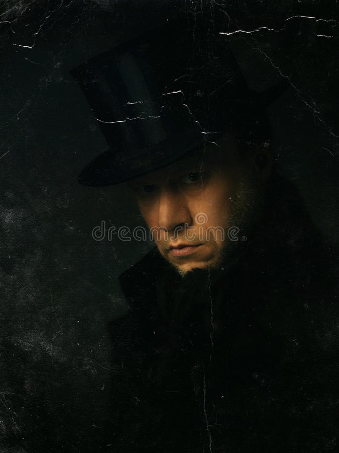 Free Old Photo Of A Man With Top Hat Royalty Free Stock Photo - 81882755