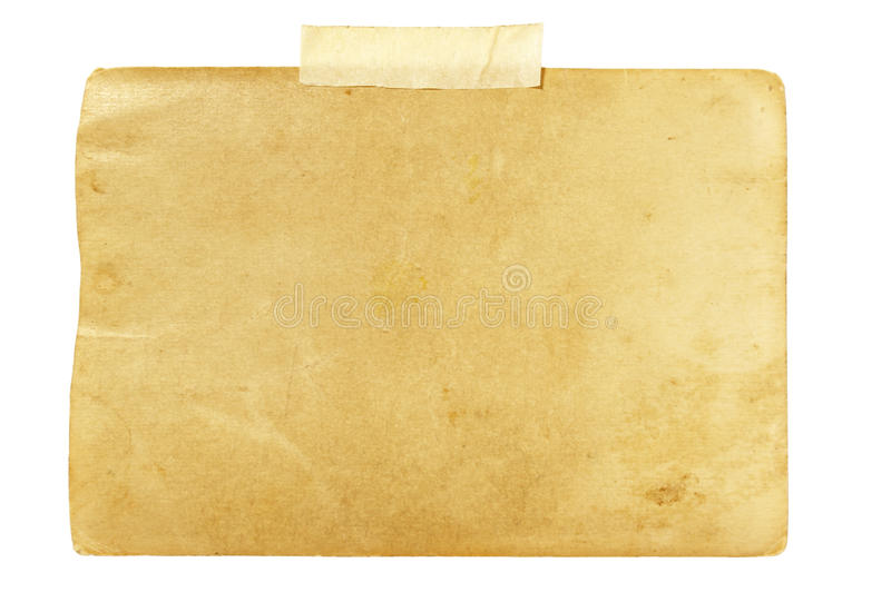 Download Old Photo With Tape Note Reminder Blank Stock Image - Image: 10228013