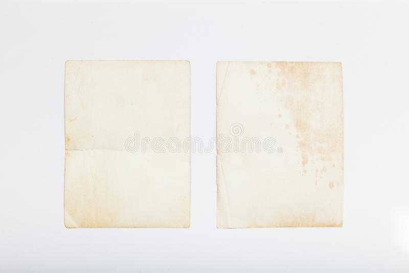Old photo vintage frame, paper album postcard royalty free stock photos