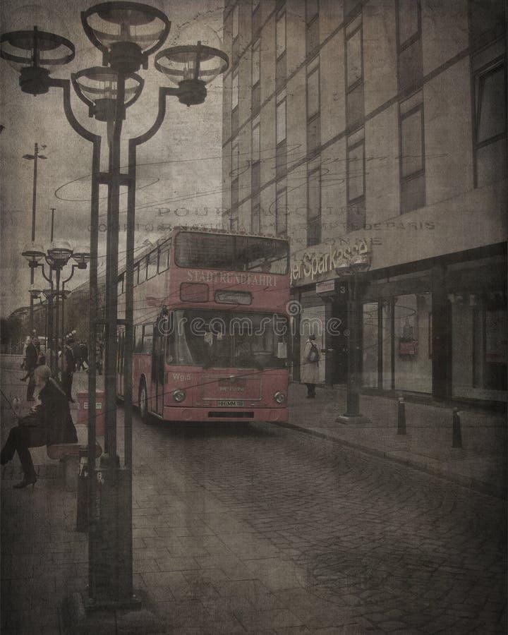 Old Photograph of a Bus stock photos