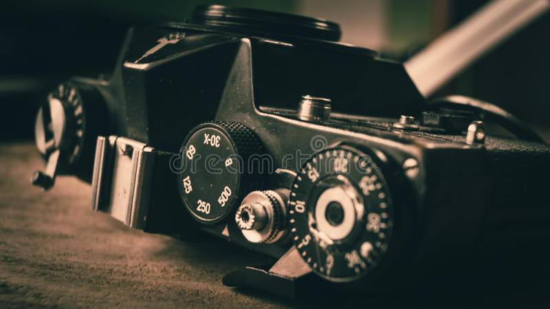 Old photographic equipment royalty free stock image