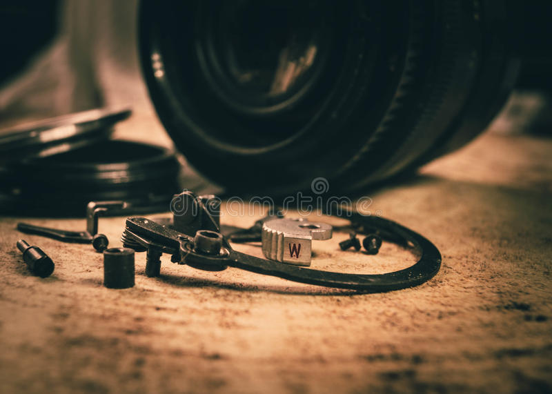Old photographic equipment stock image