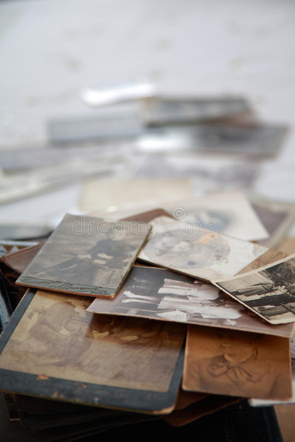 Old photos. In sepia with shallow depth of field royalty free stock image