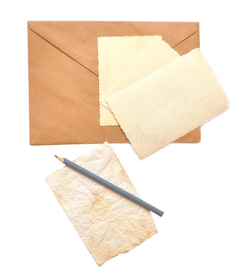 Download Old Photos, Envelope And Pencil Stock Photo - Image: 16289116