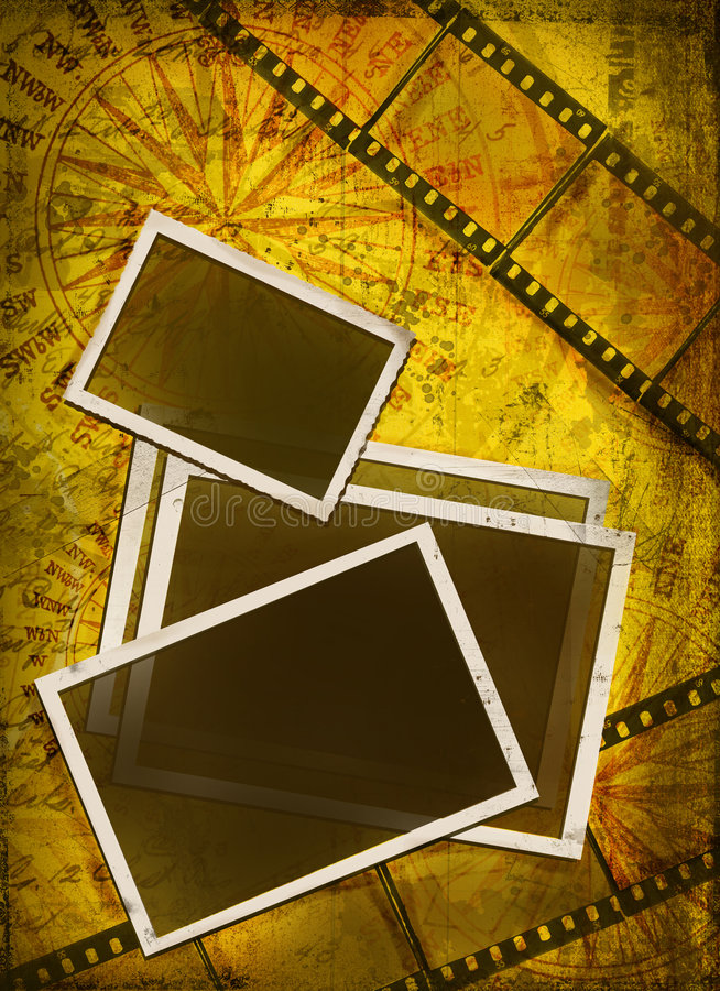 Old Photos And Film Royalty Free Stock Image