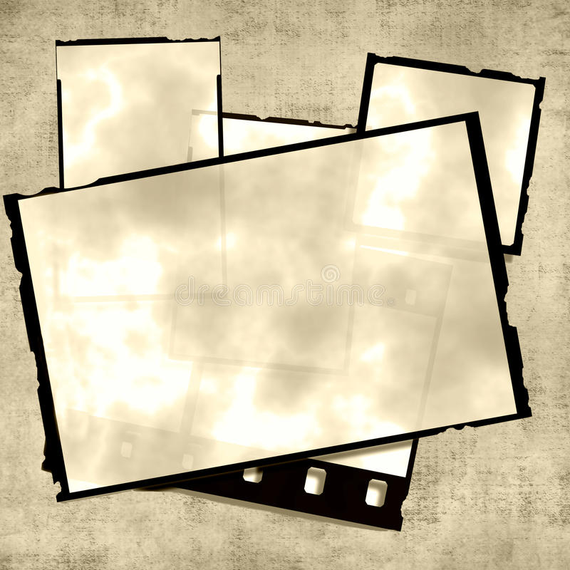 Download Old Photos Stack stock illustration. Image of blank, 35mm - 10460833