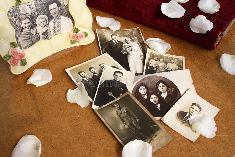 Old photos still life royalty free stock photo