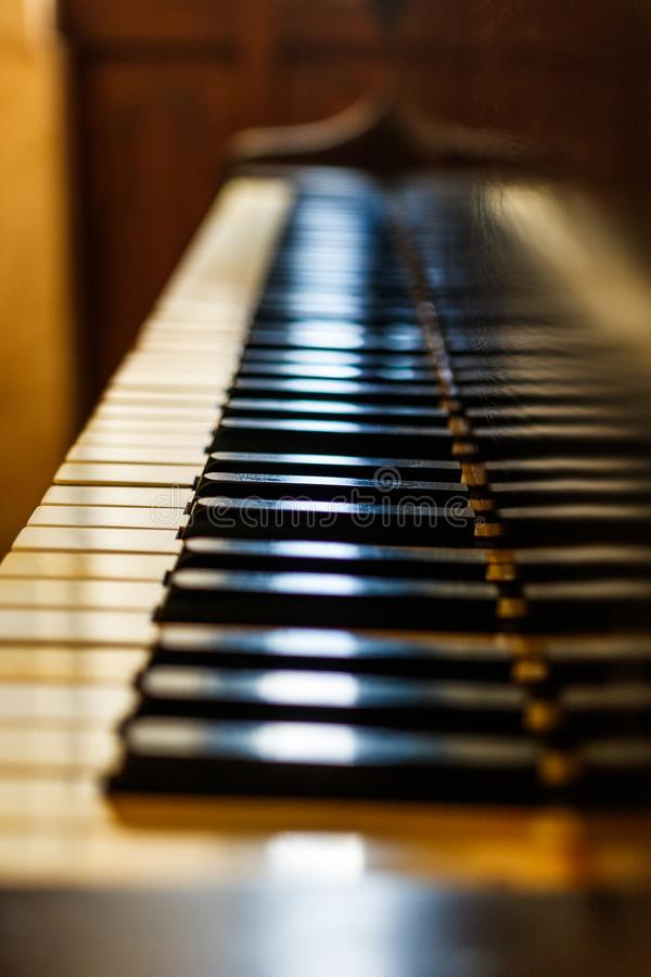 Old piano keyboard. royalty free stock photography