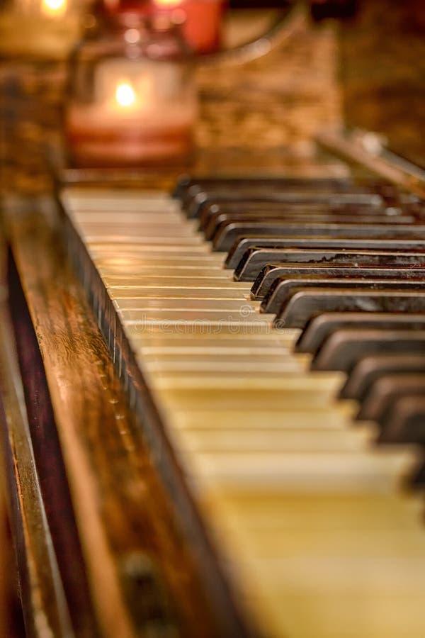 Old Piano Keys royalty free stock photos