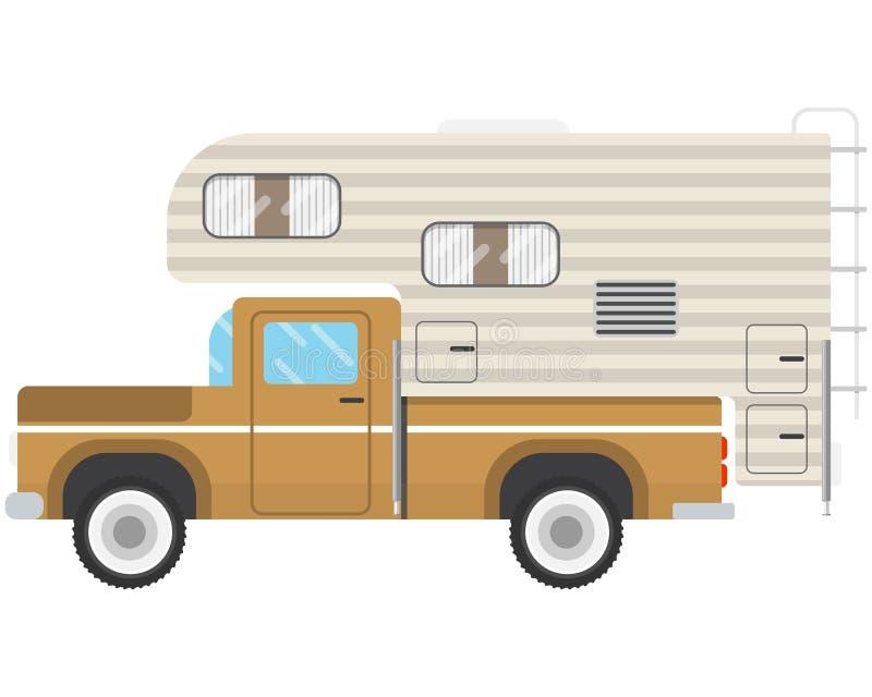 The Pickup caravan stock illustration