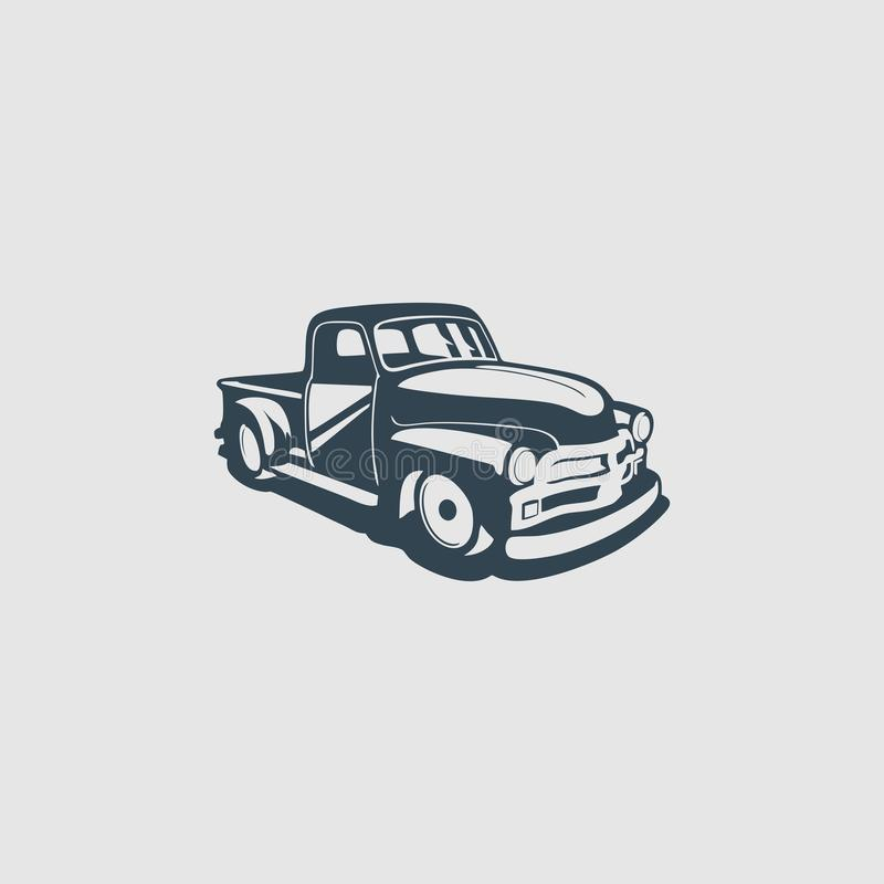 Free Old Pickup Truck Monogram Design Logo Inspiration Stock Photography - 151035982
