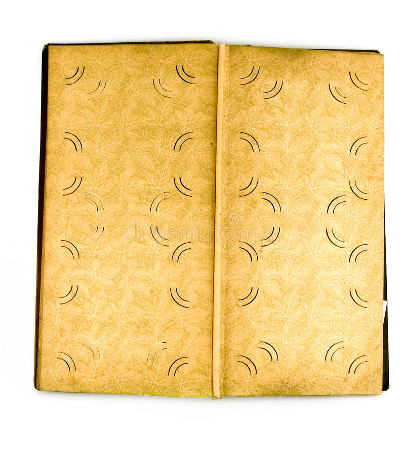 Old picture album. In it usually store family photos royalty free stock photography