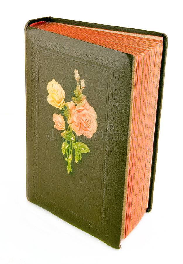 Old picture album. In it usually store family photos stock photography