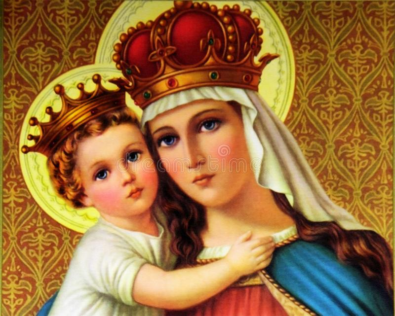 Blessed Mary with child Jesus royalty free stock photography