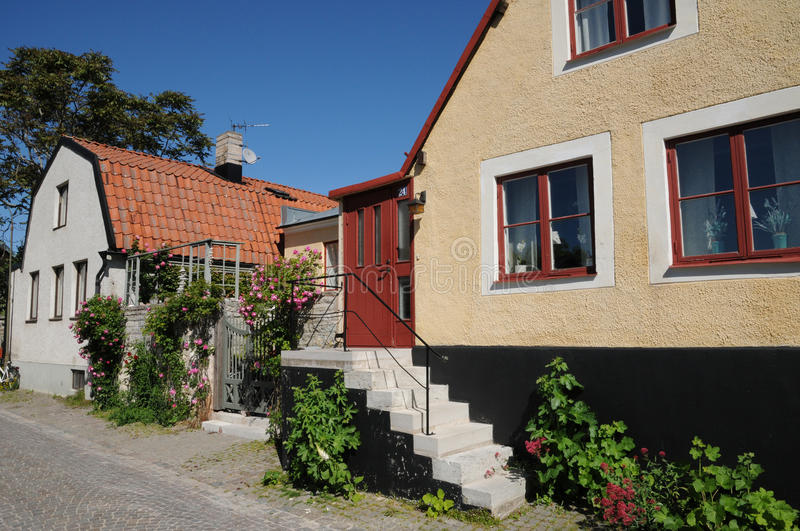 Old and picturesque city of visby royalty free stock image
