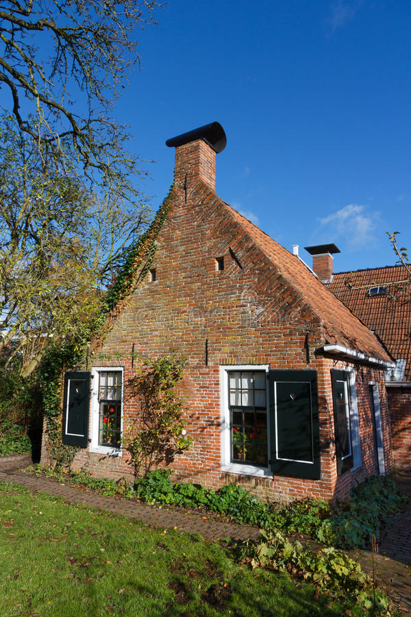 Old picturesque house in the Netherlands. From 19th century royalty free stock photography