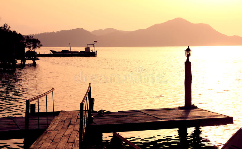 Download The old pier stock photo. Image of beautiful, land, lantern - 19765648