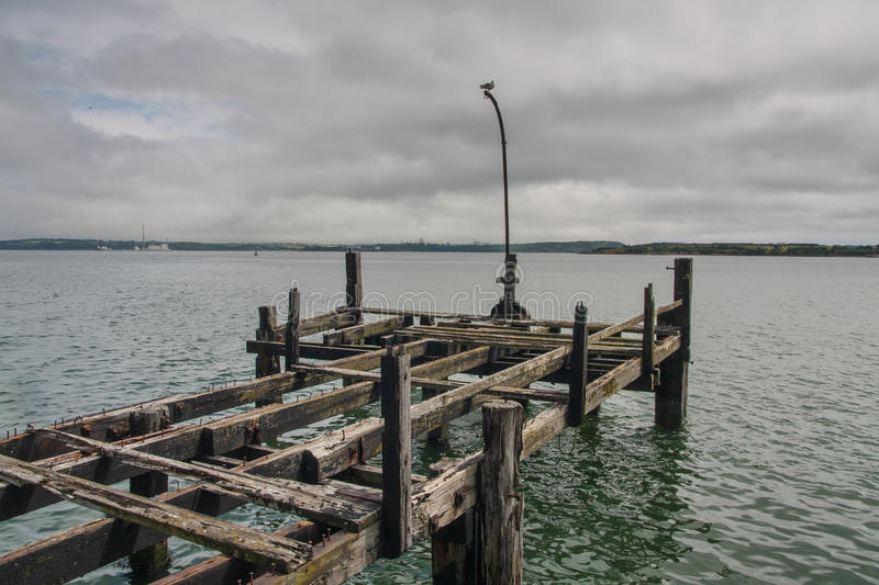Old pier in Cobh. View over an old pier in Cobh Ireland royalty free stock photos
