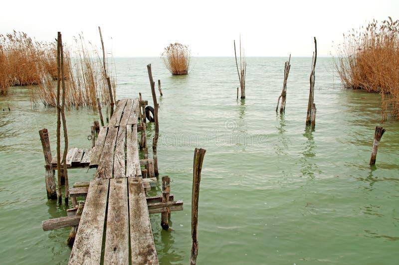 Download Old Pier At Lake Balaton ,Hungary Stock Photo - Image: 22532252