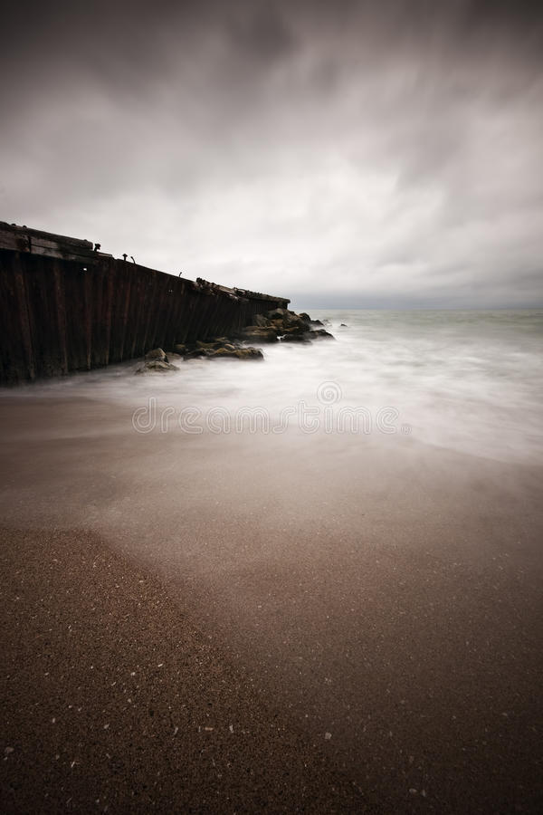 Download Old Pier at Sea stock photo. Image of water, landscape - 18323672