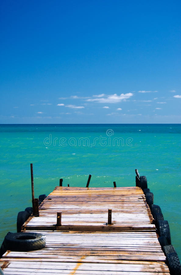 Download Old pier to sea stock photo. Image of bridge, ocean, blue - 9992218