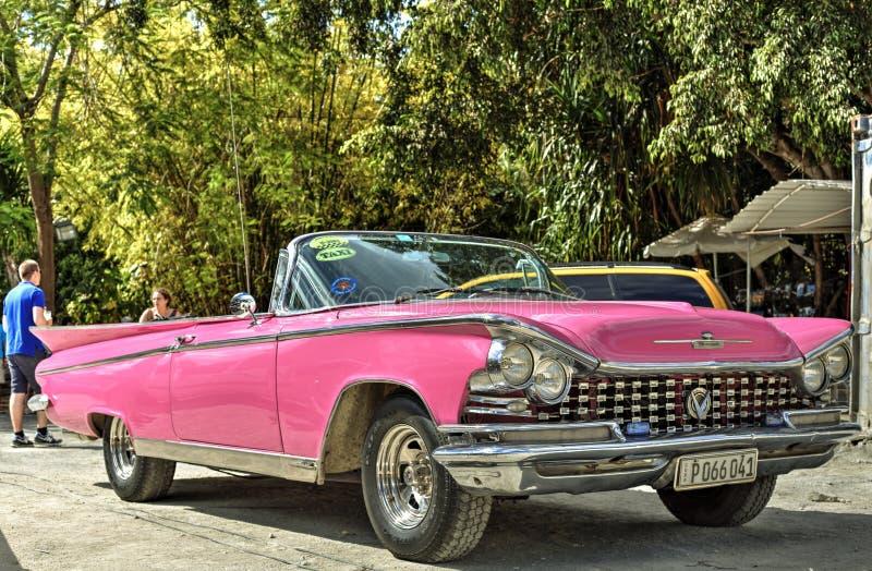 Classic car in Cuba stock photography