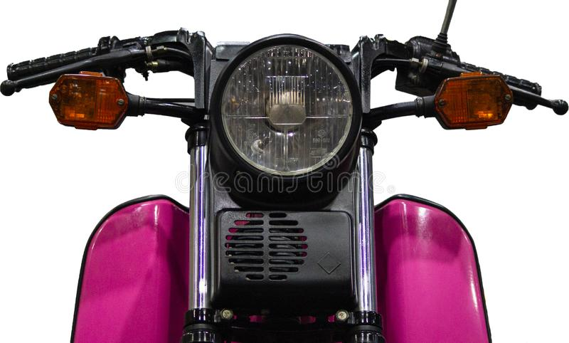 Old pink Simson SR50 isolated on white background royalty free stock image