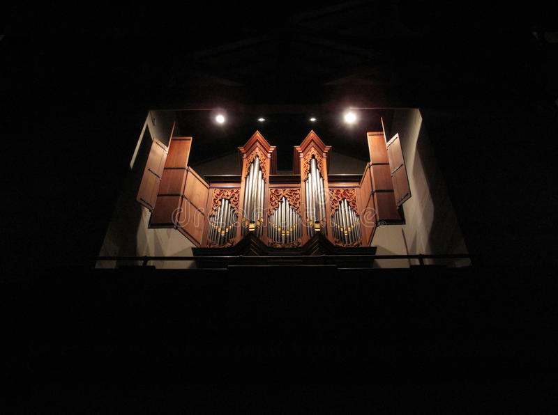Old Pipe Organ. A photo of a baroque pipe organ royalty free stock photo