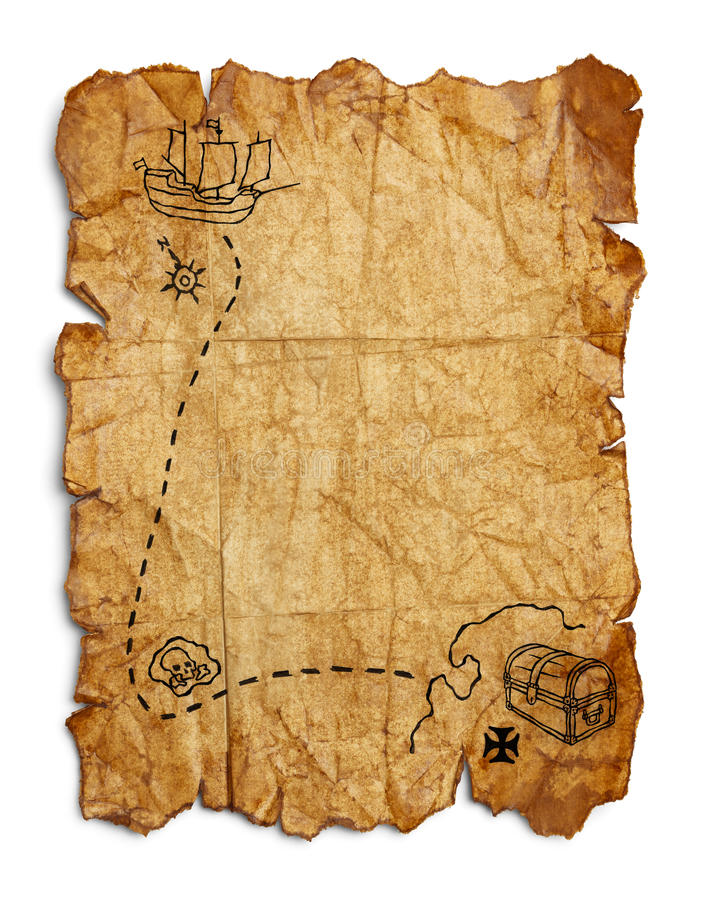 Old Pirate Map Stock Photo Image Of Image Grunge Blank