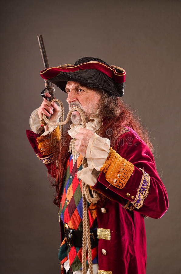 Old pirate stock photography