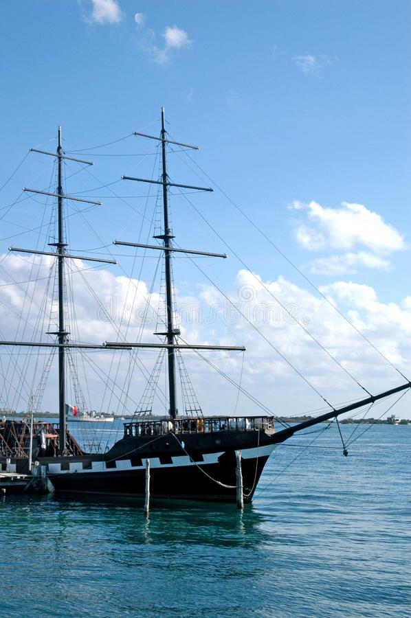 Old Pirate Ship Stock Photography