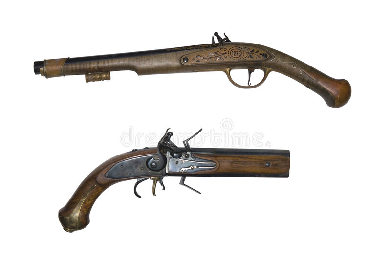 Download Old pistols stock image. Image of antique, firearms, weapons - 9353617