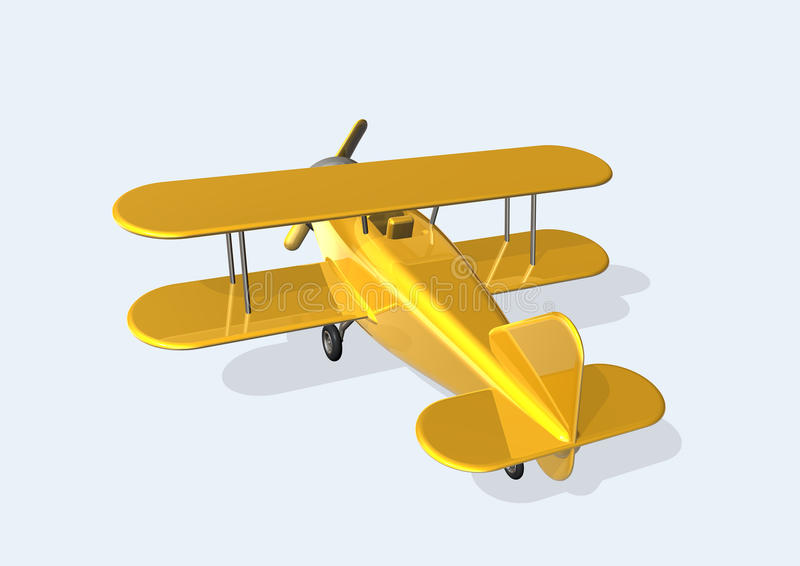 Old Plane royalty free illustration