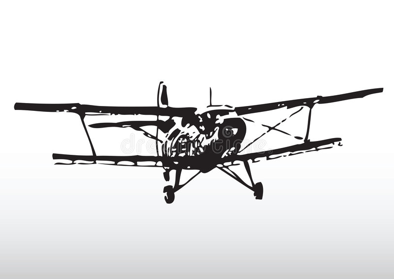 Old Plane Silhouette Stock Images Image 9019664