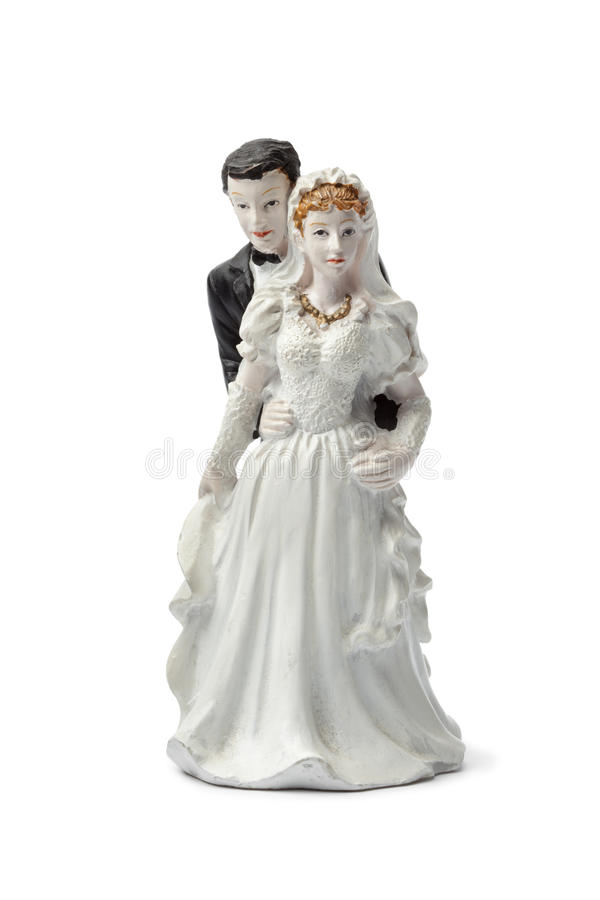Download Old Plaster Bride And Groom Cake Topper Stock Photo - Image: 23593404