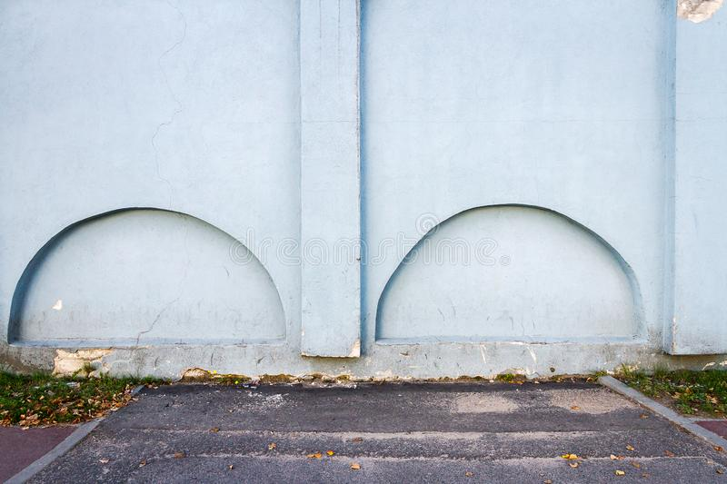 Old plastered street wall stock photo