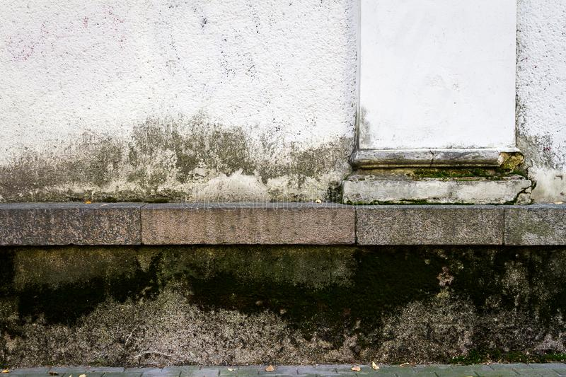 Old plastered street wall stock photography