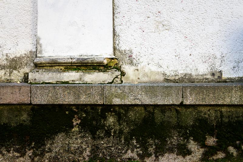Old plastered street wall royalty free stock photo