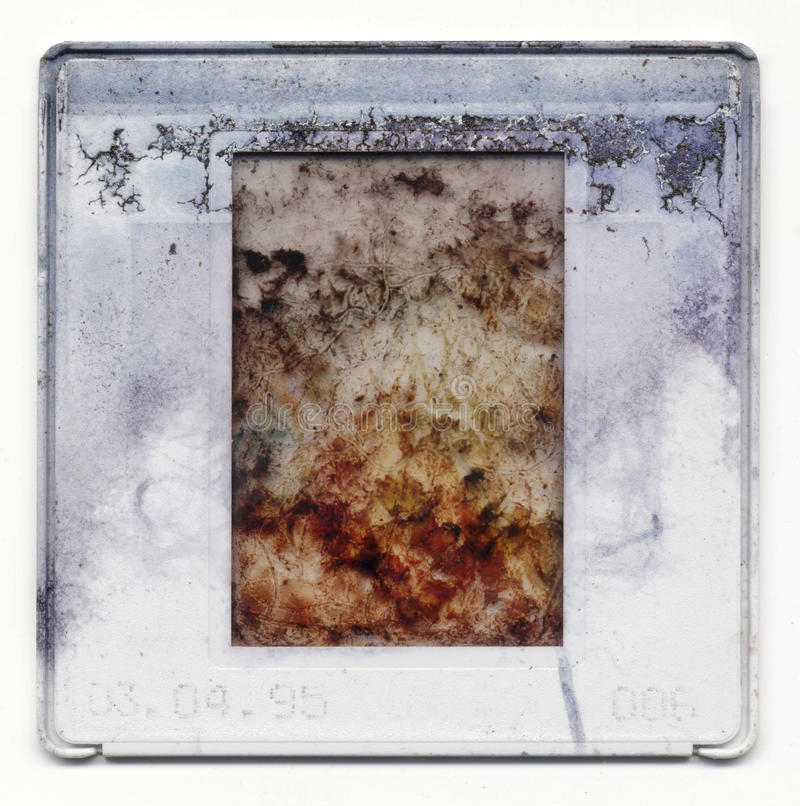 Old plastic slide film mount frame royalty free stock photography