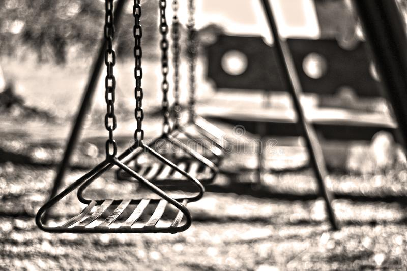 Old Playground. An old playground shooted in Brazil in a lonely place stock photo