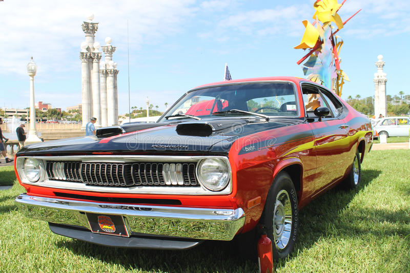 old plymouth duster car at the car show editorial stock image image of people duster 35218669. Black Bedroom Furniture Sets. Home Design Ideas